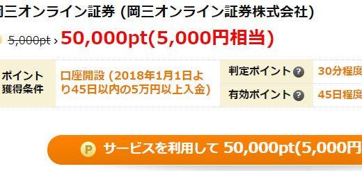【げん玉】取引なし!!!岡三オンライン証券で口座開設&入金のみで5,000円分のポイント獲得案件をご紹介