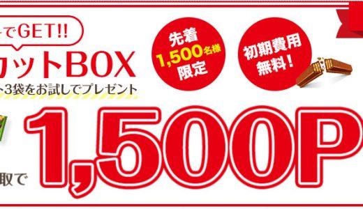 これは美味しい案件!1500名限定!無料でキットカットと2500円がもらえる素敵な案件をご紹介